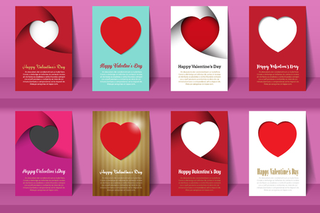 cover book: Valentines day postcards and brochures in vintage style .Vector eps10 Illustration