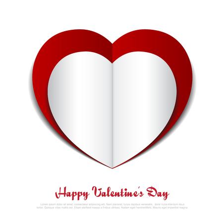 paper heart: Red Heart paper background.Vector eps10 Illustration