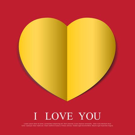 paper heart: Heart paper background.Vector eps10