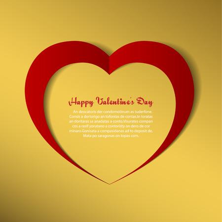paper heart: Heart paper background.Illustration eps10 Illustration