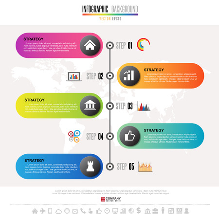 Timeline Infographics design template with icons set , Vector eps10. Elements of this image furnished by NASA Illustration