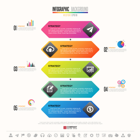 Timeline Infographics design template with icons set , Vector eps10 Illustration