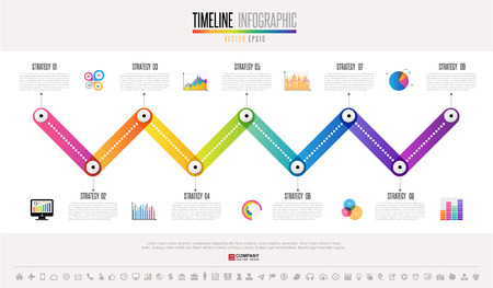 statistics icon: Timeline Info-graphics design template with icons set.