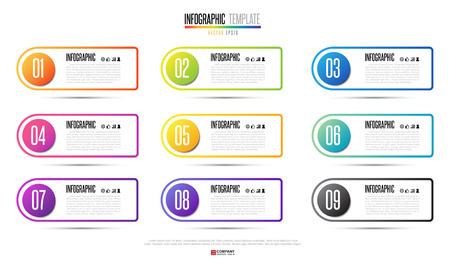 number icon: Infographics design element. Vector