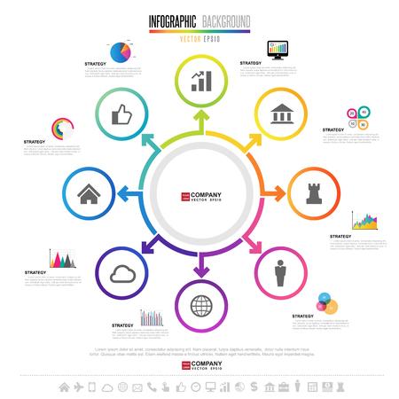 information medium: Infographics design template , Vector eps10