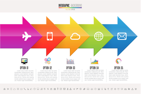information medium: Infographics design template Illustration