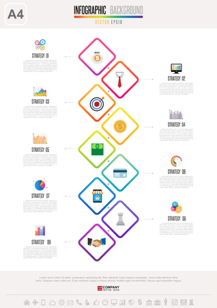 Infographics design template Ilustrace