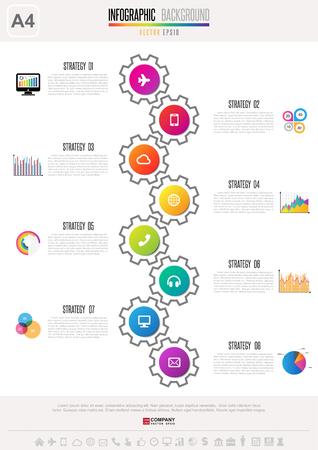 investment concept: Infographics design template Illustration