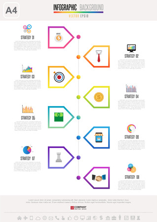 investment concept: Infographics design template , Vector eps10