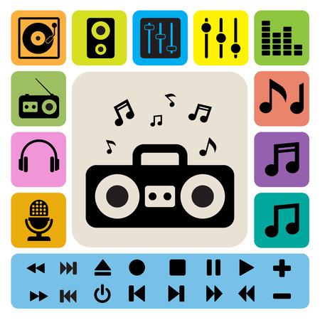 Music icon set. Illustration EPS10 Иллюстрация