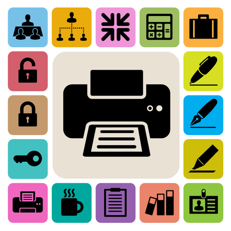 Business and office icons set. Illustration eps 10