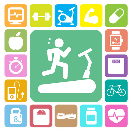 Fitness and Health icons.Illustration EPS10
