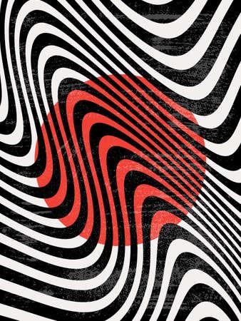 Modern Poster Art. Abstract Wall Art. Digital Interior Decoration Art with Grunge texture. Vector EPS 10. Illustration