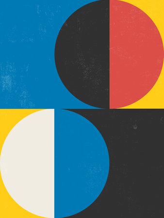 Modern Poster Art. Abstract Wall Art. Digital Interior Decoration Art with Grunge texture. Vector   . Illustration