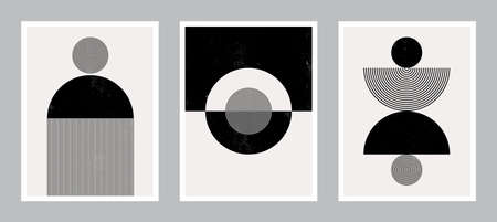 Pastel Modern Poster Art. Abstract Wall Art. Digital Interior Decoration Art for print. Vector