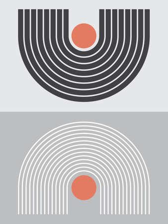 Modern Poster Art. Abstract Wall Art. Digital Interior Decoration Art. Vector