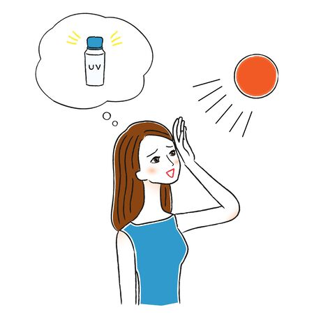 Women who applies UV care