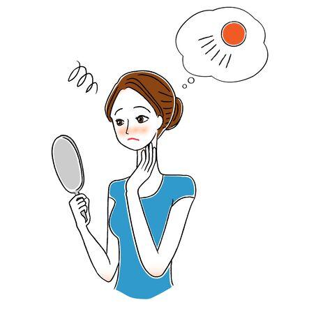 Women who considers UV care  イラスト・ベクター素材