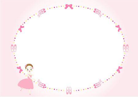 Ballet Frame Message Card 向量圖像