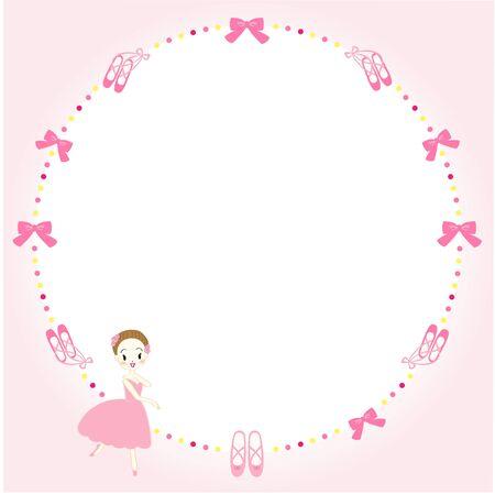 Ballet Ribbon Message Card 向量圖像