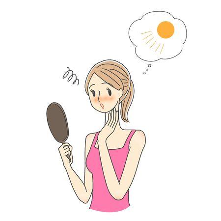 Women who care about sunburn Symi Freckles