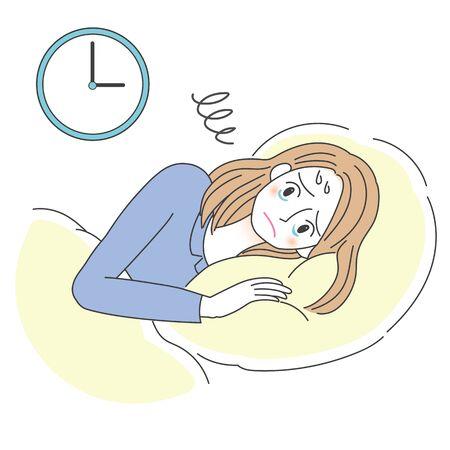 Insomnia Womens Illustrations 向量圖像