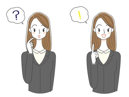Women's illustrations in suits questions, solved
