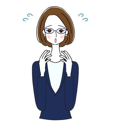 Impatience Business Woman Illustrations