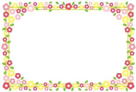 flower Frame 向量圖像