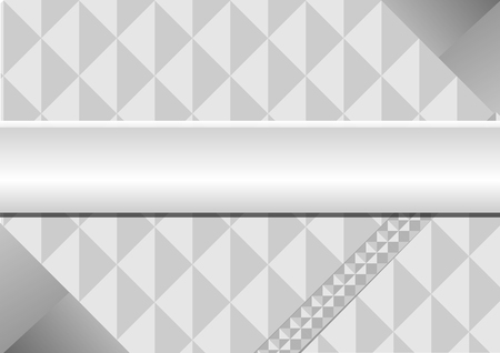 stainless steel: The triangle gray background. Illustration