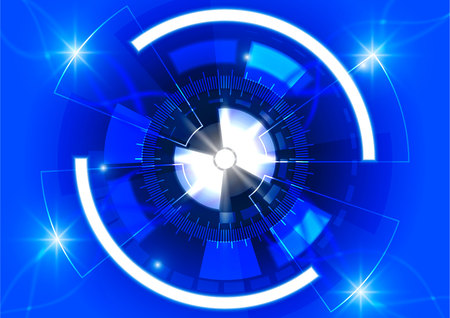 Vector blue circle technology background, Abstract digital concept. Illustration