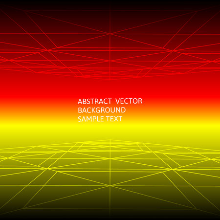 Abstract red and yellow line geometric polygonal background