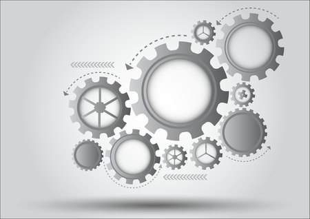 high speed internet: Gray gear abstract vector background Illustration