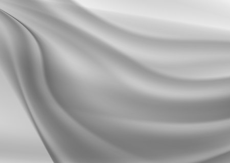 Gray wave abstract vector background