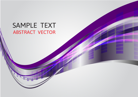 ine: purple and gray wave vector background
