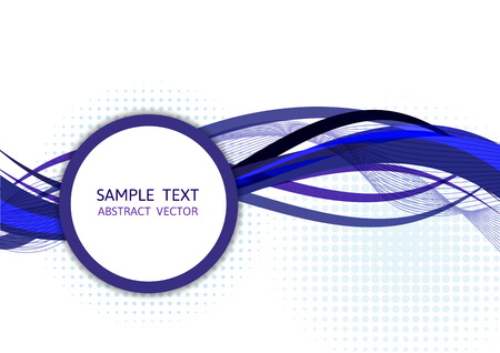 graphic display cards: Blue wave abstract vector background Graphic Design