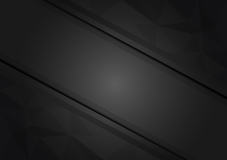 Vector geometric black triangle abstract background with copy space