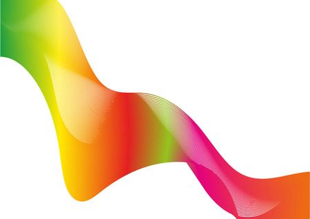 Abstract vector great rainbow waves colorful gradient line. vector graphic design. Illustration