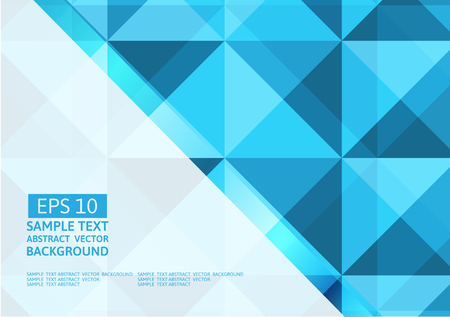 Vector geometric blue triangle abstract background Illustration
