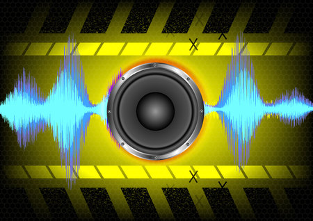 Abstract background. speakers and sound waves.