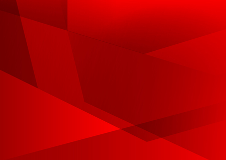 Red color geometric abstract vector background, Modern design Vettoriali
