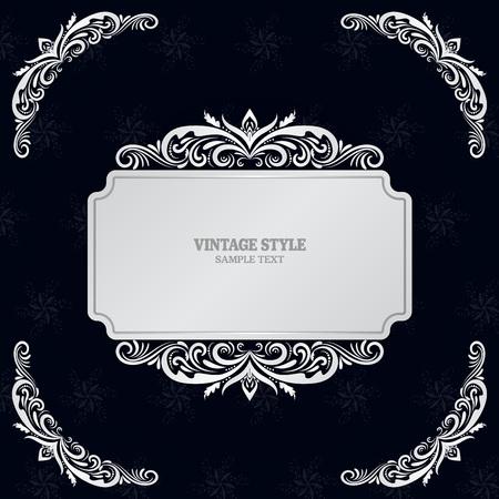 Vintage Decorations Elements and Frames Vector illustration eps10  イラスト・ベクター素材