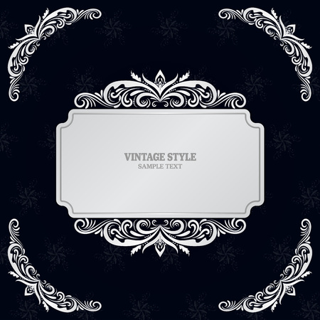 Vintage Decorations Elements and Frames Vector illustration eps10 Vettoriali