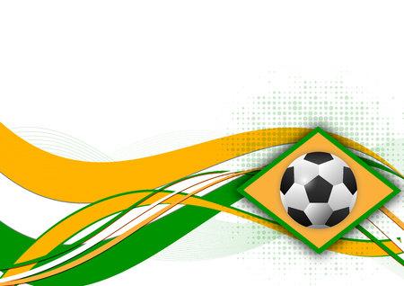 Fondo abstracto de vector de elemento de diseño de balón de fútbol