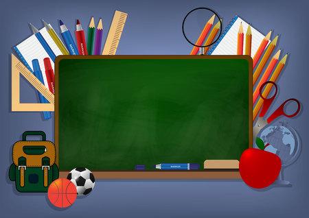 Ilustración de vector de fondo de banner de regreso a la escuela