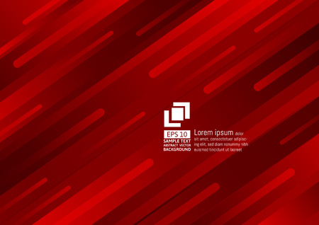 Geometric elements dark red color abstract background modern design