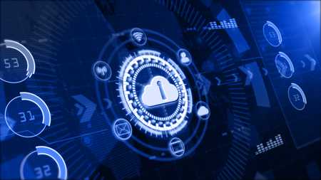 Secure data network, Digital cloud computing, Cyber security concept 写真素材