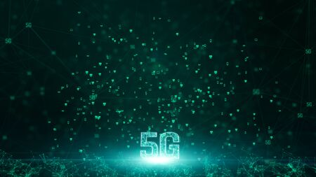 5G connectivity of digital data and conceptual futuristic information technology using artificial intelligence AI