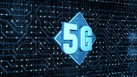5g hi speeds connection futuristic and circuit board abstract digital technology background concept