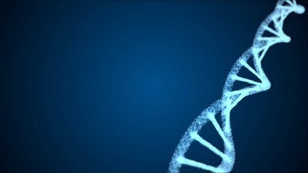 Abstract of digital DNA construction. Science animation. Conceptual design of genetics information. Stock fotó